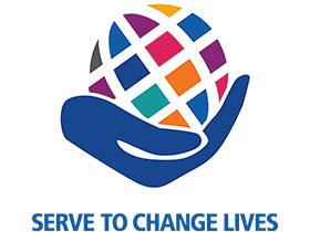 2021-2022 Theme logo - Serve to Change Lives - EN
