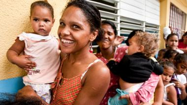 Woman with child - Dominican Republic