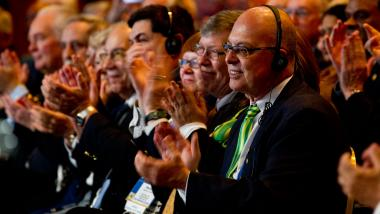 District govenors-elects at Rotary International Assembly.
