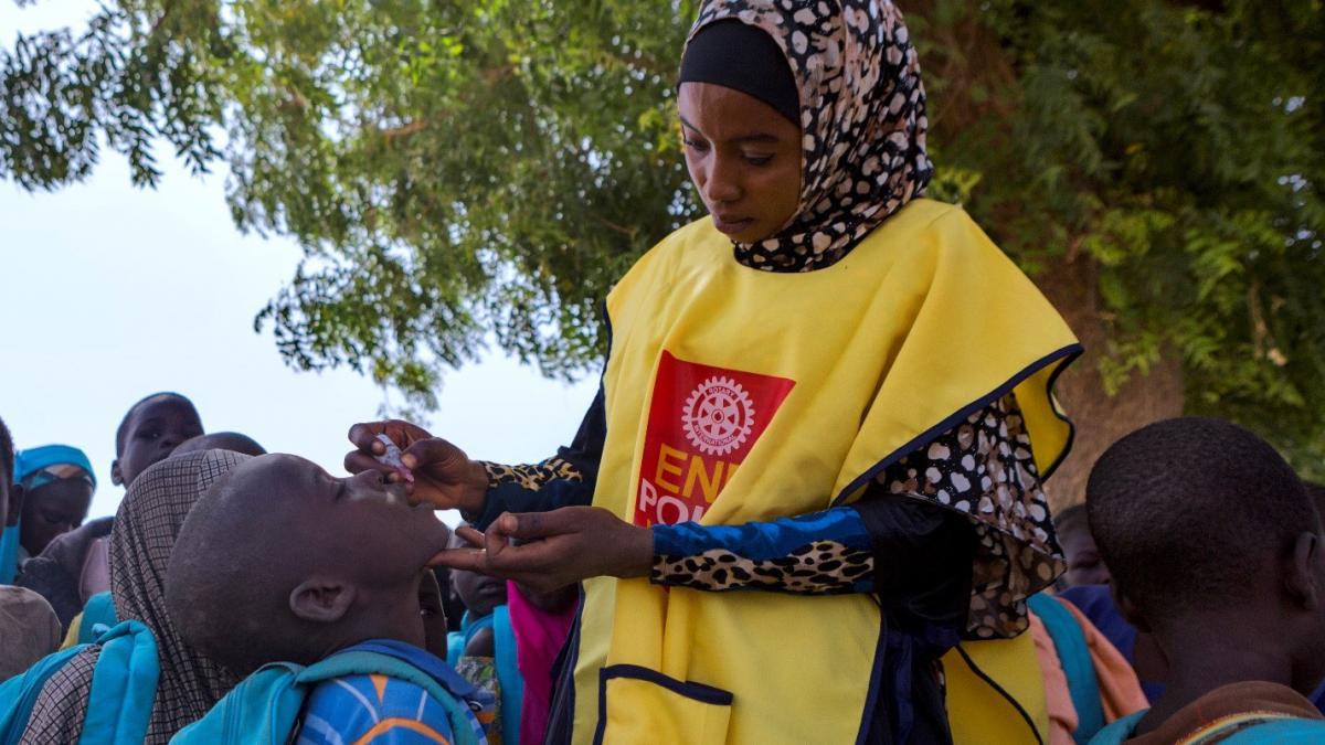 Rotary has been working to eradicate polio for more than 30 years
